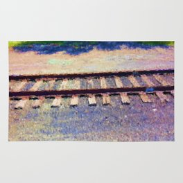 Pastel Railroad tracks Rug
