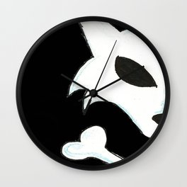 Crest of the Wolf Pirates Wall Clock