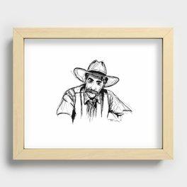 The Stranger Recessed Framed Print