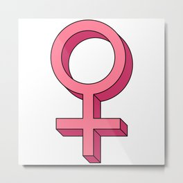 Girl Woman Symbol Metal Print