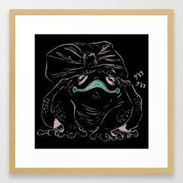Jap frog - smiling critter Framed Art Print