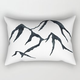 MOUNTAINS Black and White Rectangular Pillow