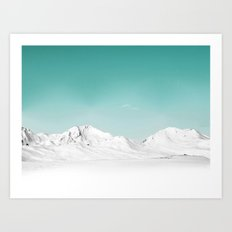 Pastel Mountain Art Print