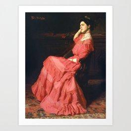 A Rose, Thomas Anshutz Kunstdrucke