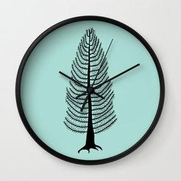 West Coast Cedar Tree Wall Clock