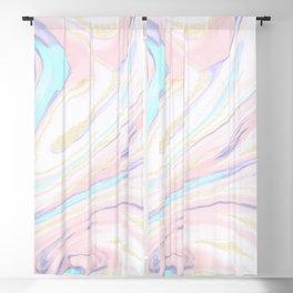 Modern golden marbleized abstract design Blackout Curtain