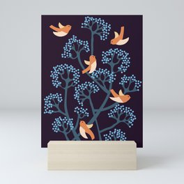 Birds Are singing Mini Art Print