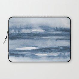 Indigo Clouds, Blue Abstract Art Laptop Sleeve