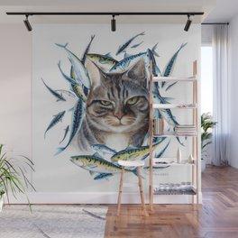 Cat dreams Wall Mural
