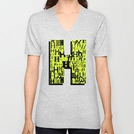Letter H Unisex V-Neck