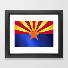 Arizona State Flag Gloss Framed Art Print