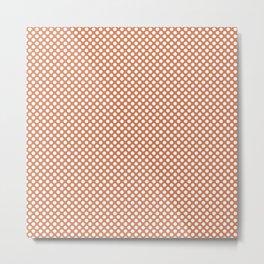 Coral Gold and White Polka Dots Metal Print