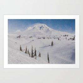 Snowy Mount Hood Art Print