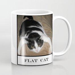 Funny Flat Cat Coffee Mug
