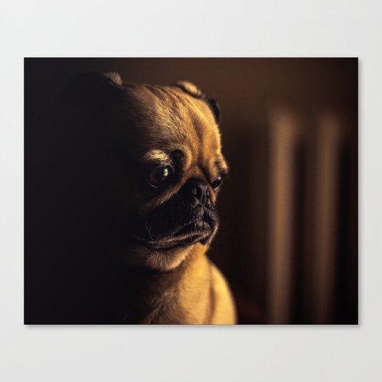 Cute Pug Dog Canvas Print