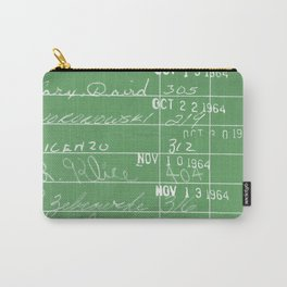 Library Card 23322 Negative Green Carry-All Pouch