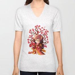 Sakura Unisex V-Neck