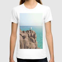 Seagull on rock T-shirt