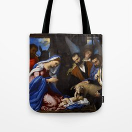 Lorenzo Lotto - Adoration of the Shepherds Tote Bag