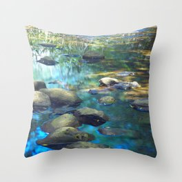 Stream of Tranquility Throw Pillow