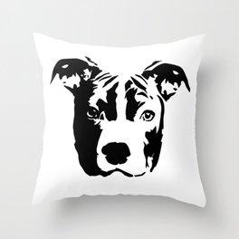 Pit Bull Terrier Dog Throw Pillow