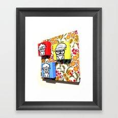 Little Hipster Guys Framed Art Print