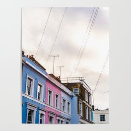 Dreamy Sky over Notting Hill, London Poster