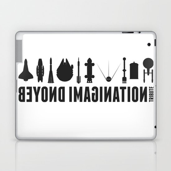 Beyond imagination: Space Shuttle postage stamp Laptop & iPad Skin