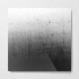 Black Ombre Concrete Texture Metal Print