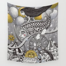 Roller Coaster Ride Wall Tapestry