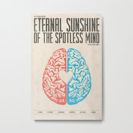 Eternal Sunshine of the Spotless Mind - Alternative Movie Poster Metal Print