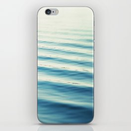 Ocean Waves Blue Photography, Aqua Water Sea Seascape Photo, Teal Beach Coastal Abstract Waves iPhone Skin