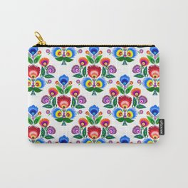 folk flowers ornament  Carry-All Pouch