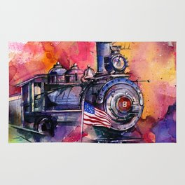 American Train by Kathy Morton Stanion Rug