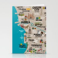 philippines Stationery Cards featuring Metro Manila, Philippines by Reg Silva / Wedgienet.net