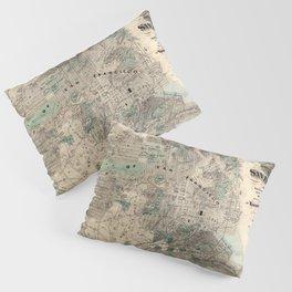 Map of San Francisco 1869 Pillow Sham