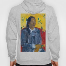 "Paul Gauguin ""Tahitian Woman with a Flower (Vahine no te tiare)"" Hoody"