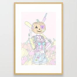 Pumpkin Smasher Framed Art Print