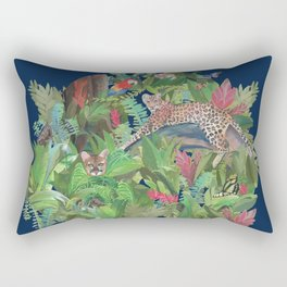 Into the Wild Midnight Forest Rectangular Pillow