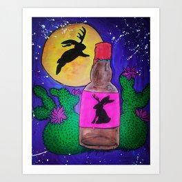 To catch a jackalope Art Print
