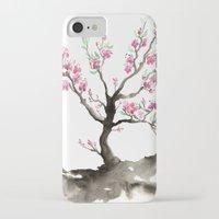 sakura iPhone & iPod Cases featuring Sakura by Brazen Edwards