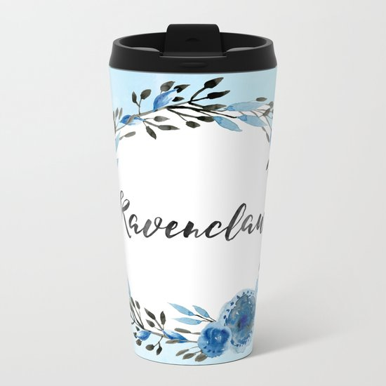 HP Ravenclaw in Watercolor Metal Travel Mug