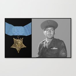 John Basilone and The Medal of Honor Canvas Print