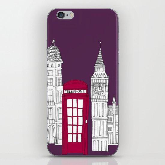 Night Sky // London Red Telephone Box iPhone & iPod Skin