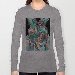 Bleeding color Long Sleeve T-shirt