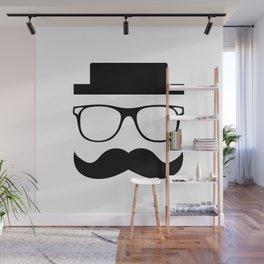 Hipster Mustache Wall Mural