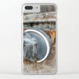 Stem Locomotive Wheels Clear iPhone Case