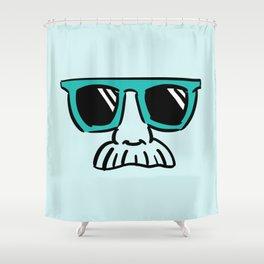 Too Cool (green cyan) Shower Curtain