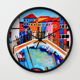 Colors of Venice Italy Wall Clock