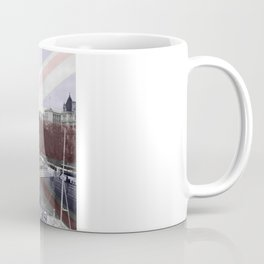 London Skyline and Union Jack Flag  Coffee Mug